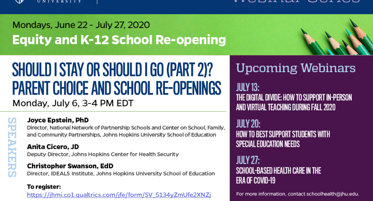 Should I stay or should I go (Part 2)? Parent choice and school re-openings